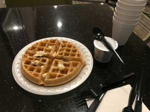self-made waffle.