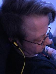 Long flight.