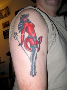 Second tattoo, right arm
